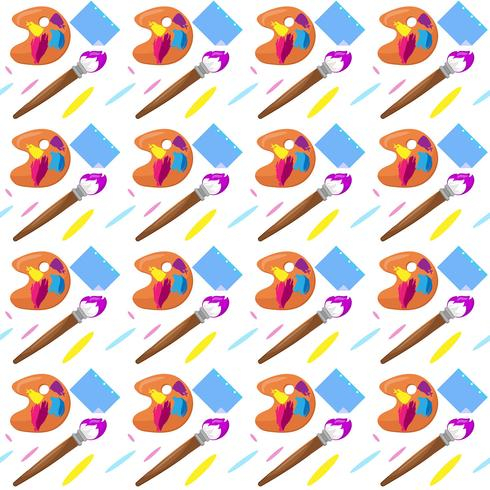 Back to school patterns with brush