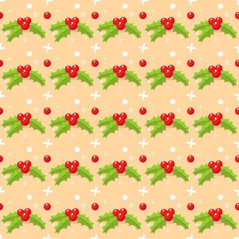 Kerstmis naadloos patroon met maretak