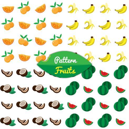 Patrón con frutas tropicales.