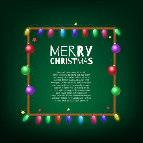 Décoration de cadre d'ampoule de lumières de Noël