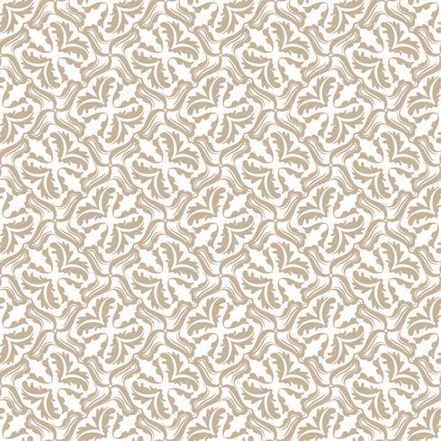 Blomönster. Tapet barock, damast. Seamless vektor bakgrund. Vintage prydnad