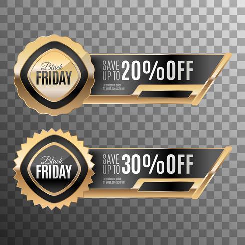 Conjunto de placas de viernes negro