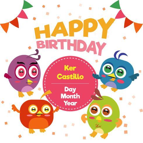 Alles Gute zum Geburtstag mit hübschen Vögeln