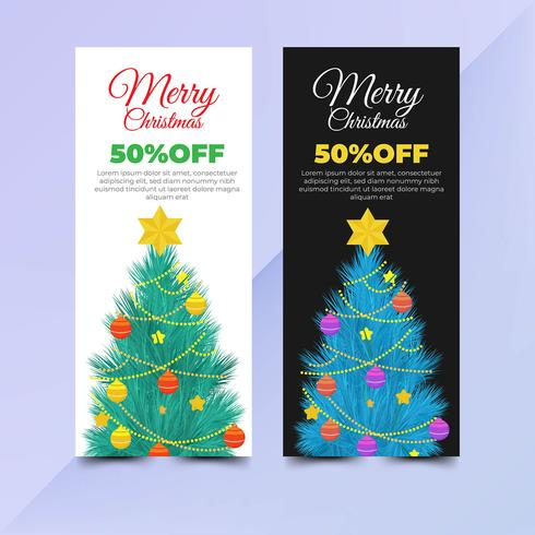 Elegant christmas flyer template