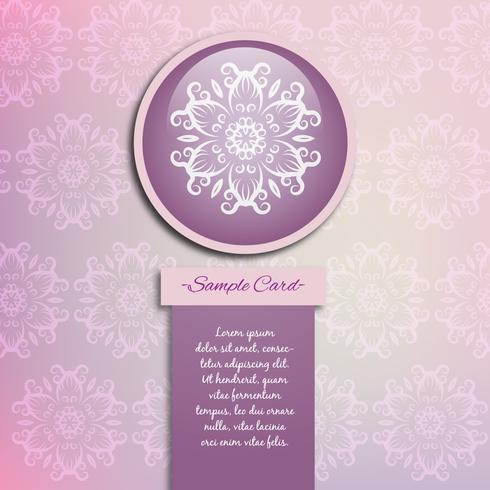 Purple mandala pattern background