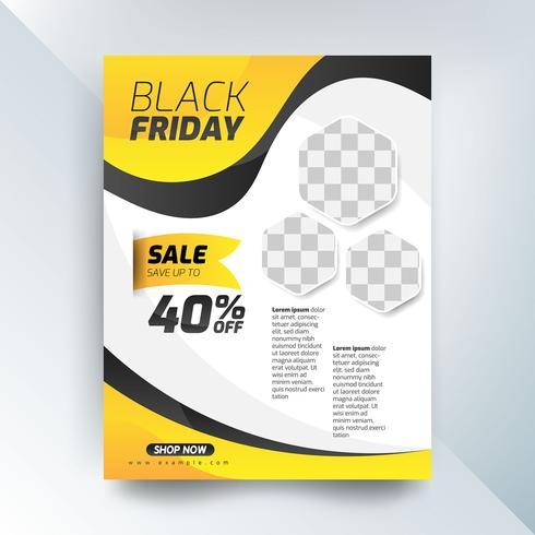 Cartel de ventas viernes negro