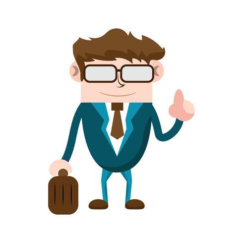 Homme d'affaires avec valise