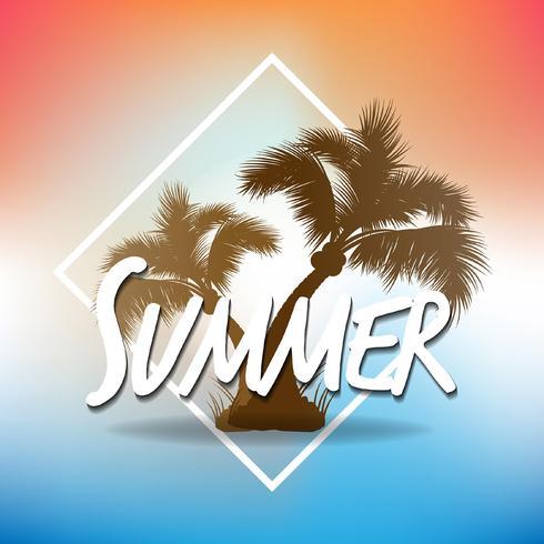 Sfondi estate tropicale con palme