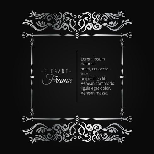 Decoratief zilveren frame