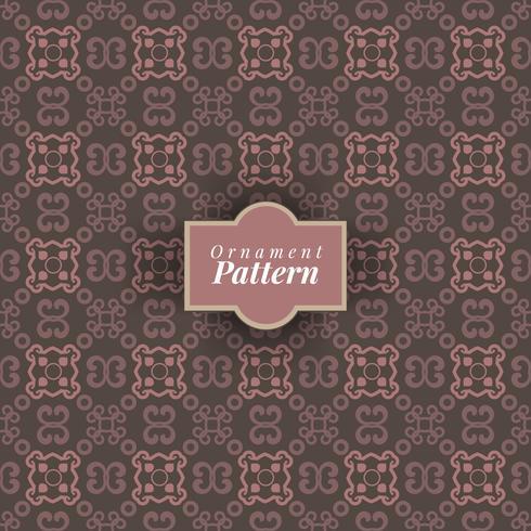 Arabesque decor. Seamless pattern. Brown color
