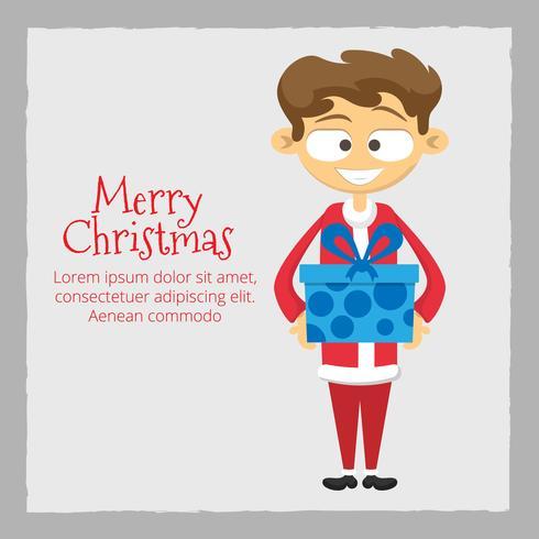 Uomo in costume da Babbo Natale con regali