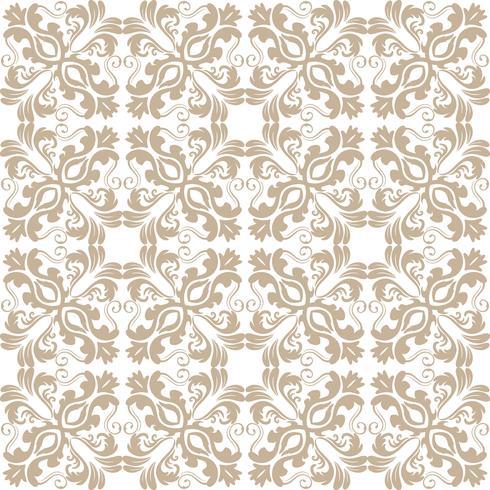 Patrón floral. Papel pintado barroco, damasco