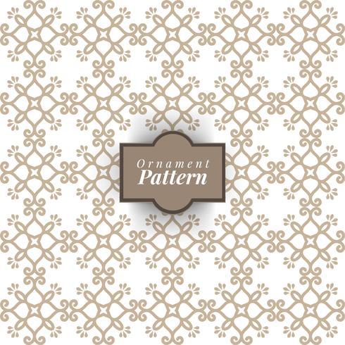 Damask tapeter. En sömlös vektor bakgrund. Vintage och vit konsistens. Blom- prydnad.