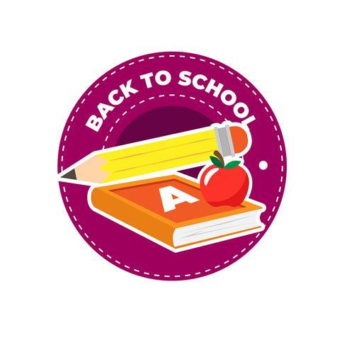 Ritorno a scuola con design piatto