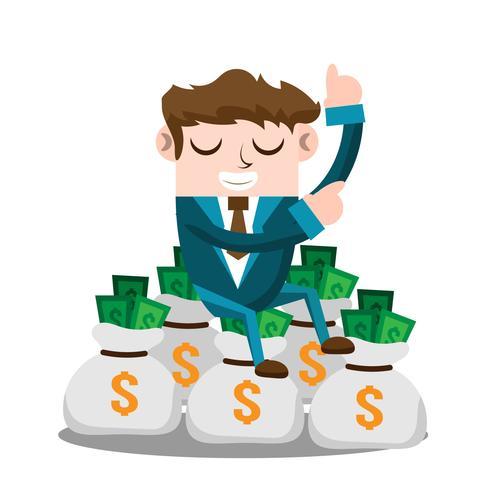 Hombre de negocios con dinero