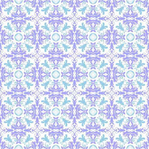 Blomönster. Tapet barock, damast. Seamless vektor bakgrund. Turkos, himmelsblå och vit prydnad