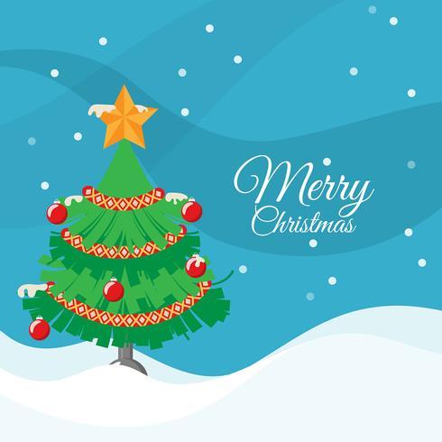 Flacher Weihnachtsbaum Hintergrund