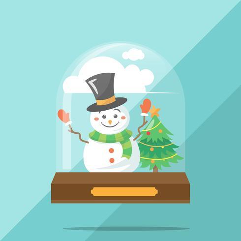 Creatieve platte sneeuwbal globe concept