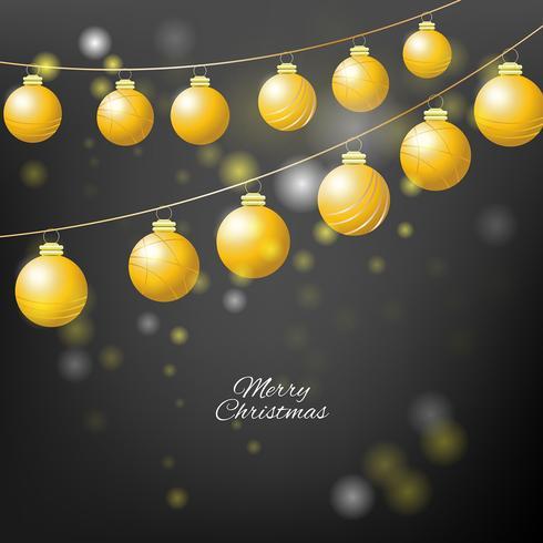 Fondo de Navidad con bolas de Navidad
