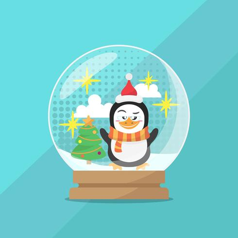 Kerstmis sneeuwbal globe achtergrond