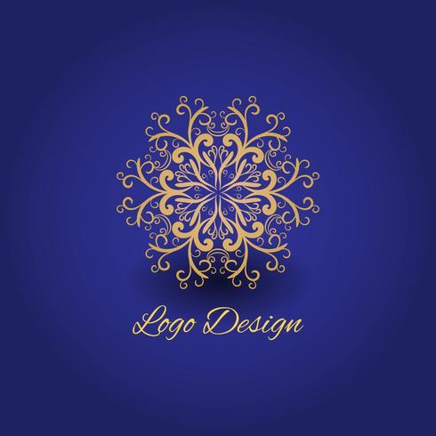 Logo de lujo con diseño de mandala.