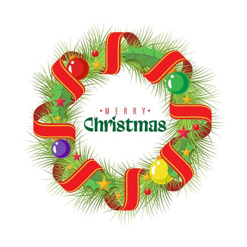 Platte kerst krans Kerst achtergrond