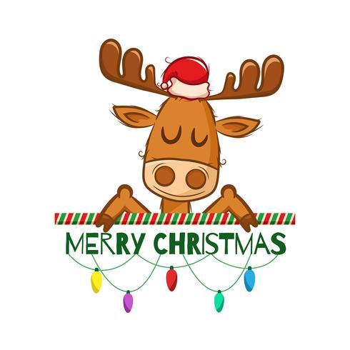 Sfondo di Natale con renne carino