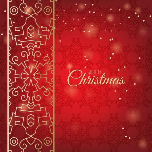 Julprydnader gjorda av snöflingor vektor