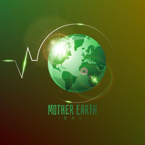 Gradient moeder aarde dag achtergrond