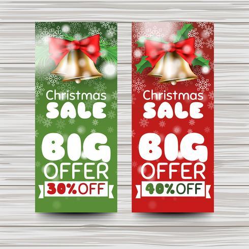 Plantilla de banner de ventas de Navidad creativa