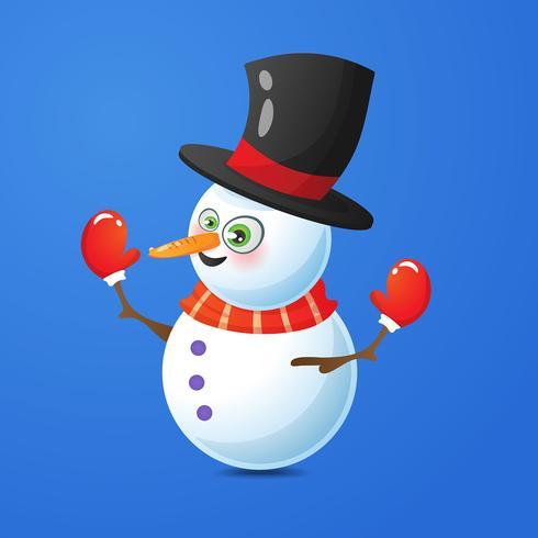 Ilustração, de, neve, homem