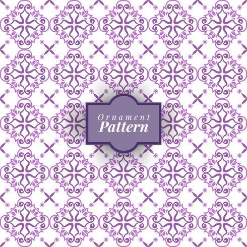 Decoración arabesca. Patrón sin costuras Color púrpura