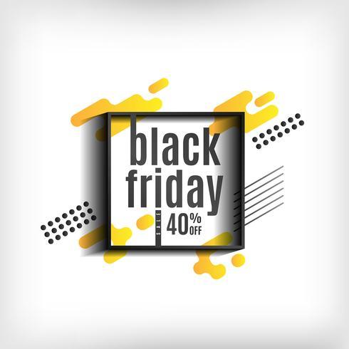 Fondo de viernes negro con formas amarillas
