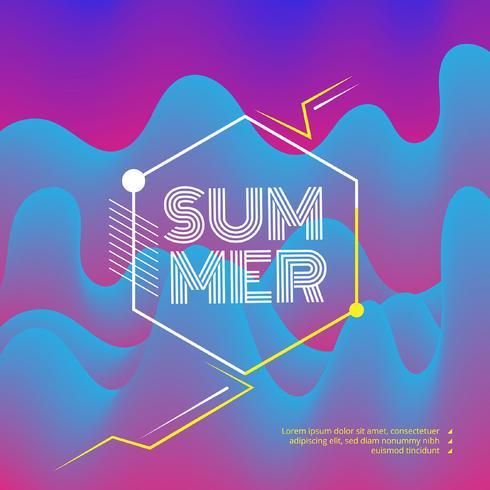 Elektronische Musik Fest und Electro Summer Wave Poster