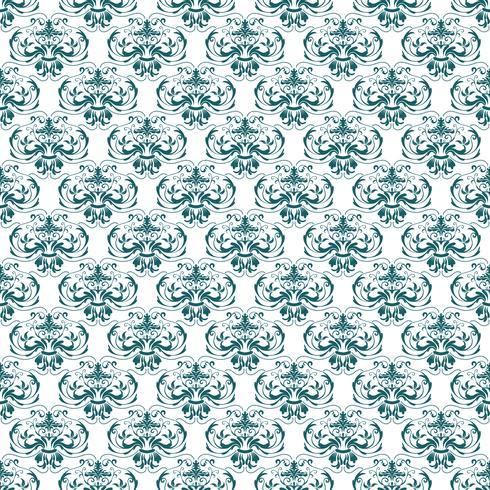 Motif Floral Papier Peint Baroque Damassé Fond Vectorielle