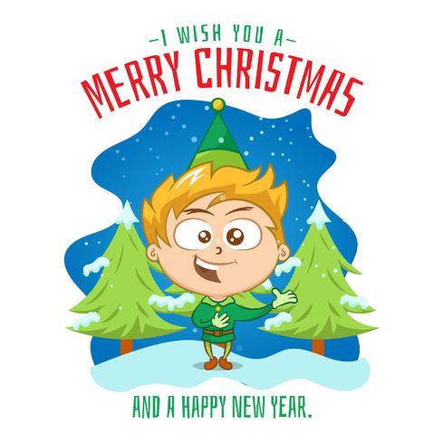 Bambino che canta una canzone di Natale