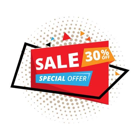 Venta y oferta especial. 30% de descuento. Ilustración vectorial