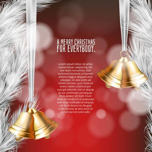 Hintergrund der frohen Weihnachten mit Verzierungen in der realistischen Art