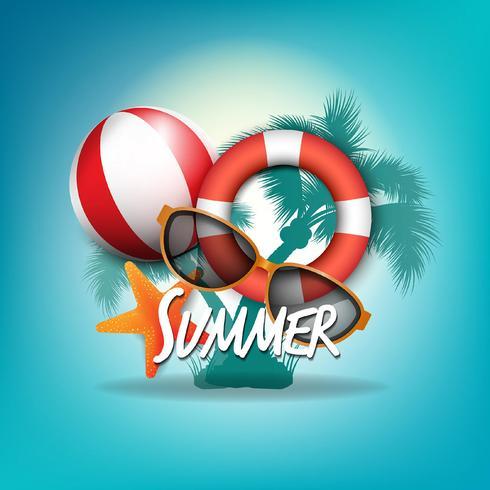 Fondos tropicales de verano