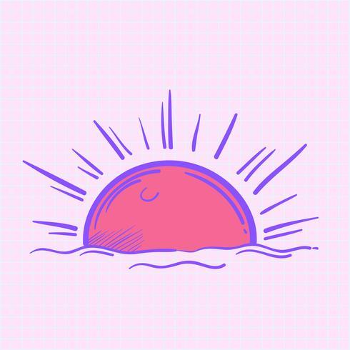 Ilustración de sol brillante aislado en el fondo