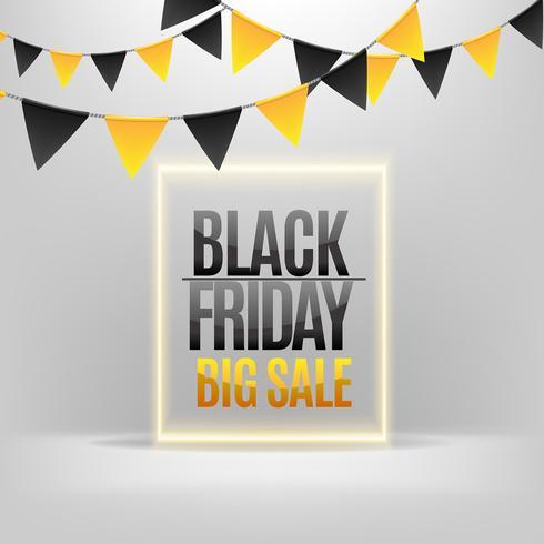 Black Friday-verkoop met wimpels