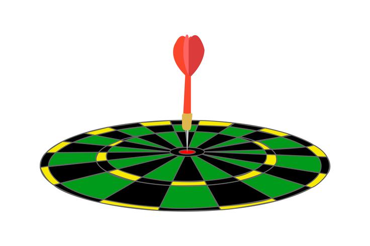 Pijltje in een groene illustratie van het doelcartoon