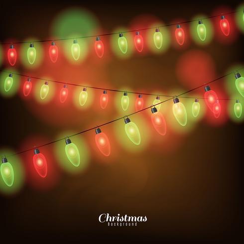Hintergrund mit Weihnachtsbeleuchtung