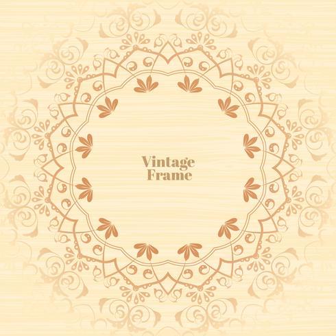 Cadre d'ornement Vintage s'épanouir