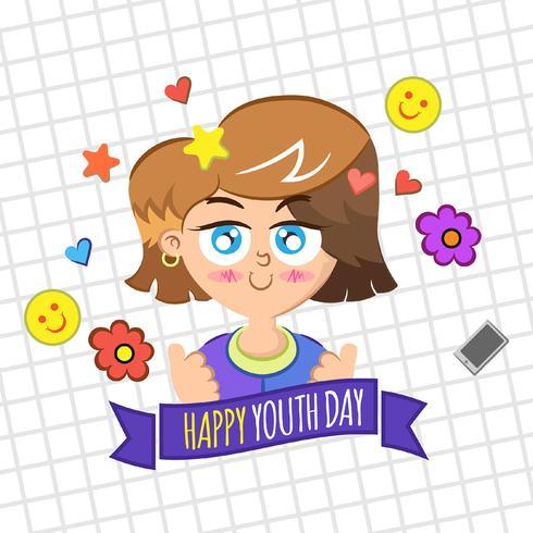 Fondo del día de la juventud con niño