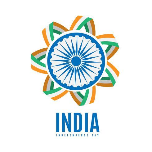 Indien Independence Day festlig bakgrund
