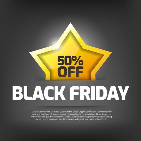 Black Friday ventas con estrella.