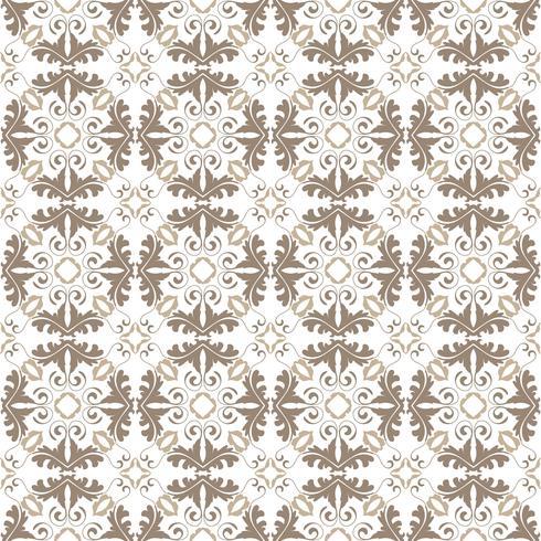 Bloemenpatroon. Behang barok, damast. Naadloze vector achtergrond. Donkergrijs en wit ornament