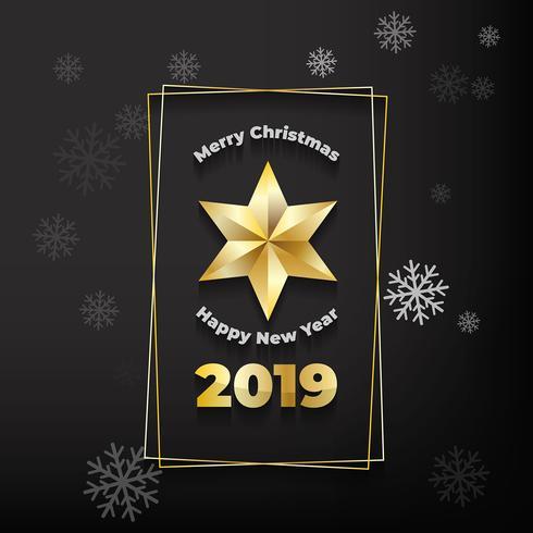 Christmas golden star background