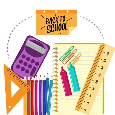 Back to school with flat design